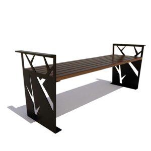 Скамейка «Березка» без спинки
