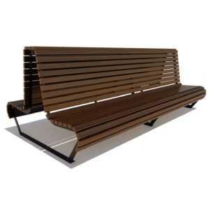 Двойная скамейка уличная «Геленджик»