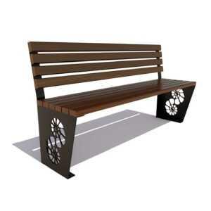 Скамейка «Ракушка» без подлокотников