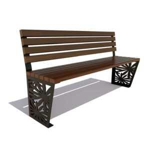 Скамейка «Ромашка» без подлокотников