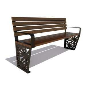 Скамейка садовая «Ромашка»