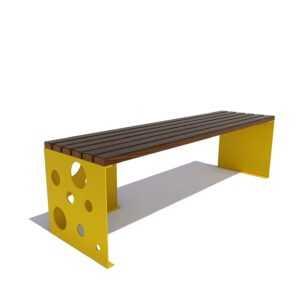 Скамейка уличная «Сыр» без спинки