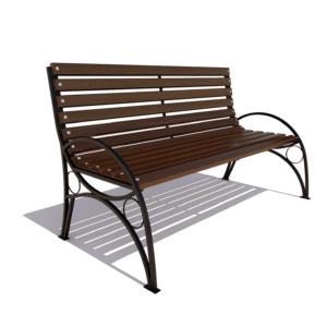 Скамейка для дачи «Тверь» с подлокотниками