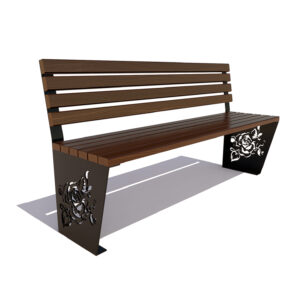 Скамейка «Роза» без подлокотников